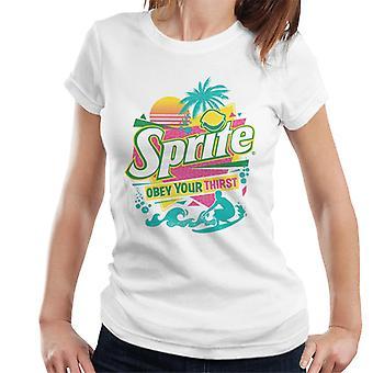 Sprite Retro 90s Beach Obey Your Thirst Women's T-Shirt