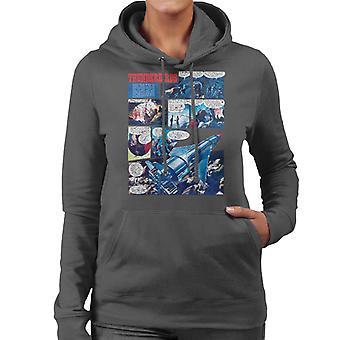 Thunderbirds Comic Page Women's Hooded Sweatshirt