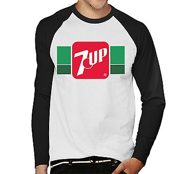 7UP Retro 80s logo mannen ' s honkbal lange mouwen T-shirt