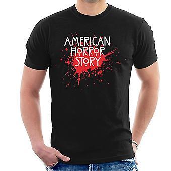 Amerikai horror történet Blood fröccs logo férfiak ' s T-shirt