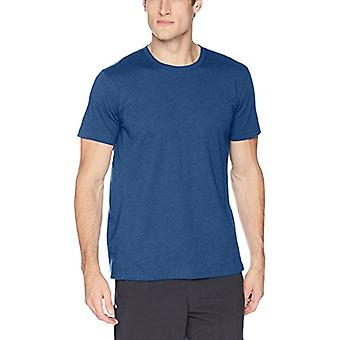 Peak Velocity Men's Performance Cotton Short Sleeve Quick-dry Loose-Fit T-shirt, Victory Blue Heather, Large