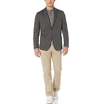 Essentials Men's Knit Sport Coat, Charcoal Gray Heather, Large