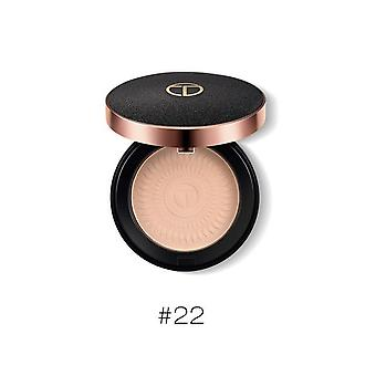 Natural Face Powder Mineral Oil Control Brighten Concealer Whitening Make Up Pressed Powder With Puff