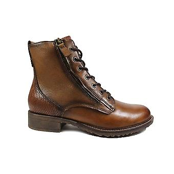 Tamaris 25211 Brown Leather Womens Ankle Boots