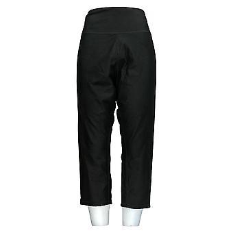 Frauen mit Kontrolle Frauen's Hose Plus Reversible Crop Print/schwarz A354369