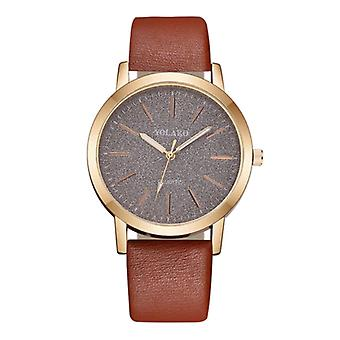 Yolako Quartz Watch Ladies - Anologue Luxury Watch for Women Brown