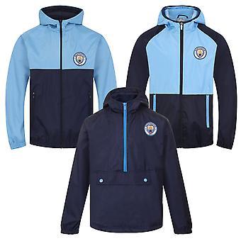 Manchester City FC Officielle Fodbold Gift Boys Shower Jacket Windbreaker