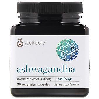Youtheory, Ashwagandha, 1,000 mg, 60 Vegetarian Capsules