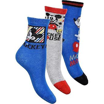Mickey Mouse Socks 3-pack - Gris/Bleu
