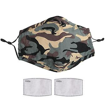 Face mask reusable washable breathable dust mouth cover camouflage