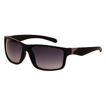 Sunglasses Unisex matt black with grey lens (8260 P)