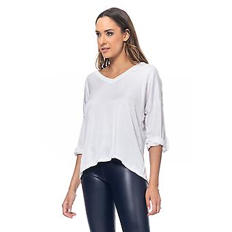Satin top front part with V Neck