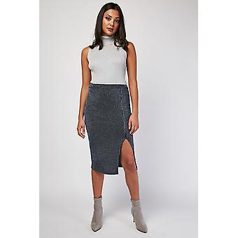 Metallic Vertical Stripe Skirt
