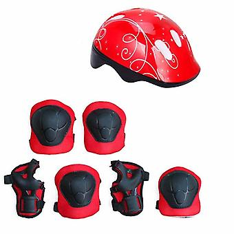 Children's Helmet Protective Gear Set Elbow Pads Bicycle Skateboard Ice Skate Roller Knee geschikt voor 4-11kids