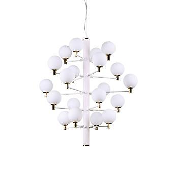 20 Light Multi Arm Ceiling Pendant Chiaro Bianco chiaro, G9