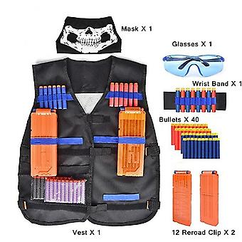 Tactical Gun Accessories Waistcoat Sets With Ammo Holder - Elite Pistol Bullets Toy Clip Darts  Kids Toy