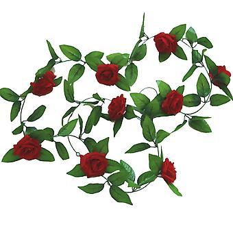 En soie artificielle Rose Rotin Ivy Garland pour décor de mariage à la maison
