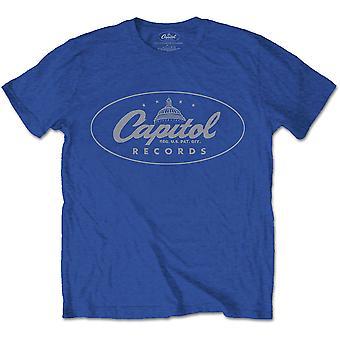 Blue Capitol Records Logo Offisiell T-skjorte