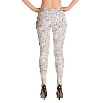 Mode leggings   julserie #10   Elfenben