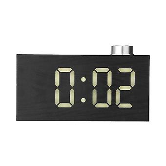 Touchscreen LED-Knopf Uhr USB-Lade-Home-Dekoration