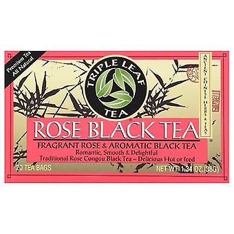 Triple Leaf Tea Rose Black Tea, 20 Bags