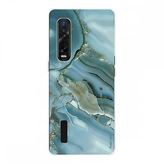 Hull For Oppo Find X2 Pro In Silicone Soft 1 Mm, Marble Design