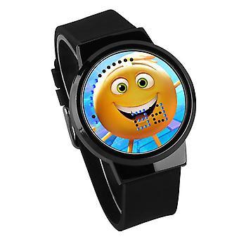 Waterproof Luminous LED Digital Touch Children watch  - Emoji #11