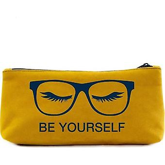 Be Yourself Printed Pen, Pencil Holder