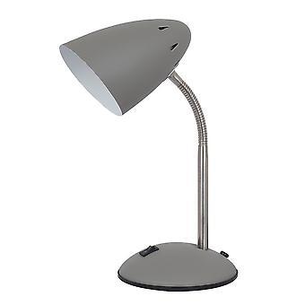 Italux Cosmic - Moderne Tischleuchte grau Satin Finish 1 Licht mit Sand grau Schatten, E27