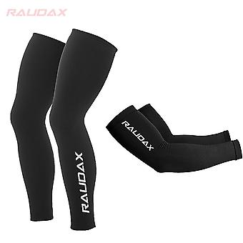 Cosmic Leg Warmers Black Uv Protection Cycling Arm Warmer Breathable Bicycle