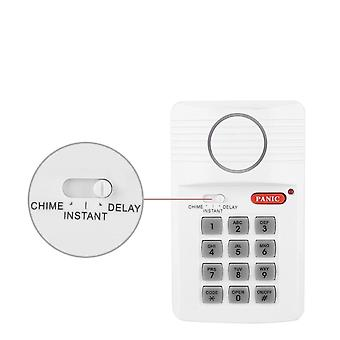 Door Alarm System, 3-settings, Security Keypad With Panic Button For Home,