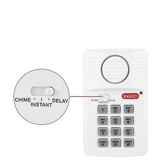 Tür-Alarm-System, 3-Einstellungen, Sicherheitstastatur mit Panik-Taste für zu Hause,