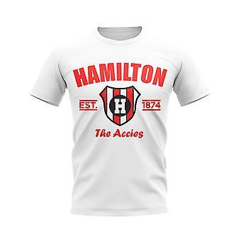 Hamilton Accies etablert fotball t-skjorte (hvit)