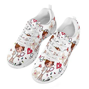 Cute Cartoon Nurses Printed Sneakers Breathe Mesh Shoes