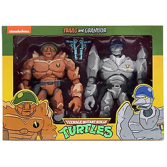 NECA TMNT Cartoon Tragg And Grannitor 7 Inch Scale Action Figure 2-Pack