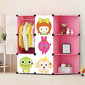 New's Cartoon Plastic Assembly Simple Wardrobe