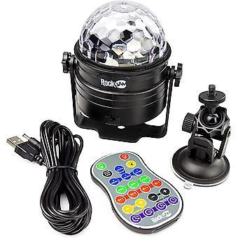 RockJam Wireless Sound Activated 6Watt Disco Ball Party Light