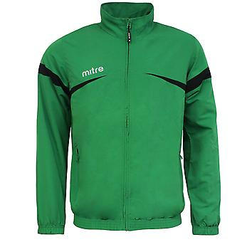 Mitre Polarize Zip Up Emerald Black Mens Sports Track Jacket T50103 EMI A1B