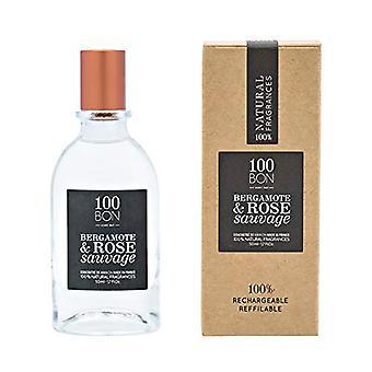 100BON Bergamote & Rose Sauvage Refillable Eau de Parfum Concentrate 50ml Spray