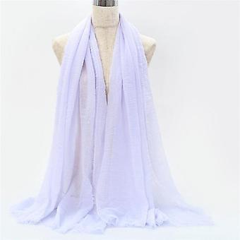70 * 180cm Muçulmano Crinkle Hijab Cachecol Femme Soft Cotton Headcarf Islâmico Hijab