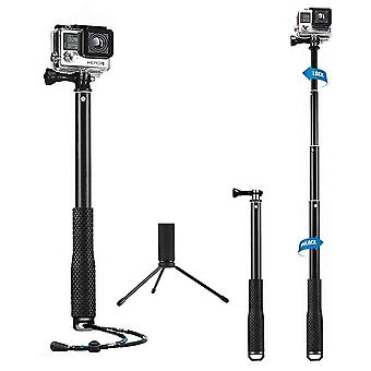 Mystery waterproof gopro flexible telescoping monopod tripod with thumb screw and adjustable wrist s