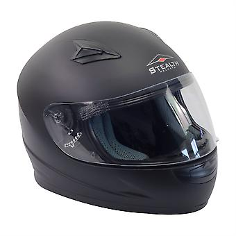 Stealth HD127  Kids Full Face Helmet - Matt Black