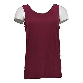 Cuddl Duds Women's Top Softwear Stretch Reversible Scoop Tank Red A293078