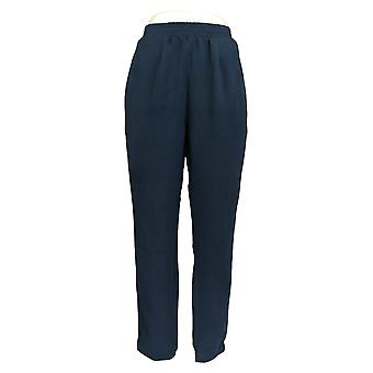 Lisa Rinna Collection Women's Pants Relaxed Crepe Broek Blue A288535