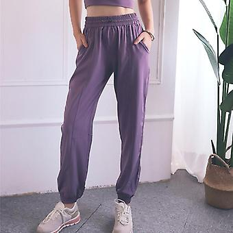 Vrouwen High Waist Loose Gym Pants Ladies Pocket Fitness Pants Training Broek