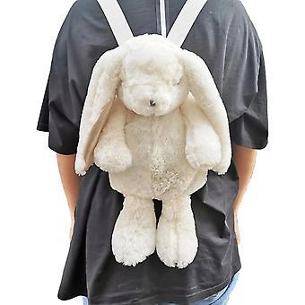 White Rabbit Bunny Backpack School Shoulder Bag Toy Kidsfriend Student