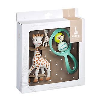 Sophie la Girafe azzurro gift set 3 units