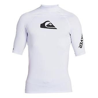 Quiksilver All Time Rash Vest - White