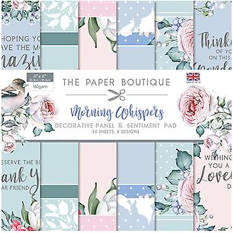 The Paper Boutique - Morning Whispers Collection - 8x8 Panels and Sentiments Pad