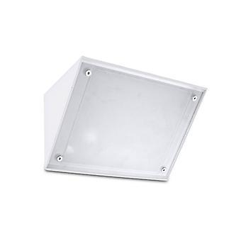 Lámpara De Pared Curie E27, Alumiiniio Y Vidrio, Blanco